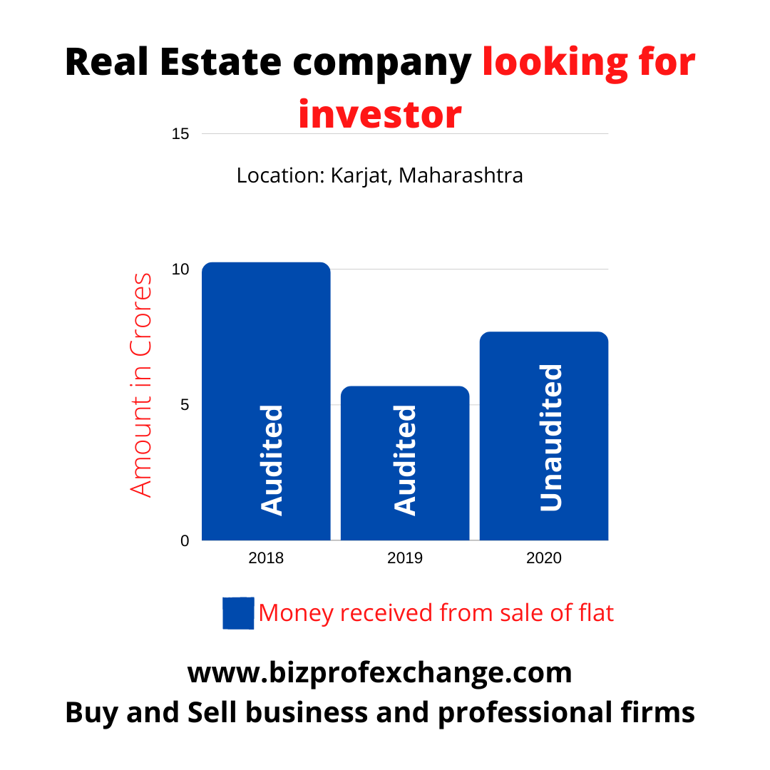 Real Estate company looking for investment